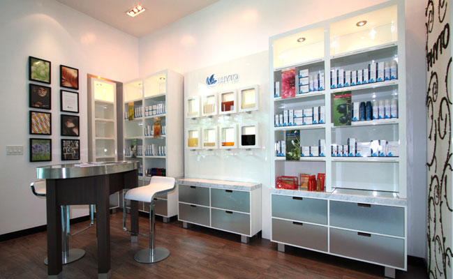 Phyto-wall-display-hair-salon-spa-jpdesignusa